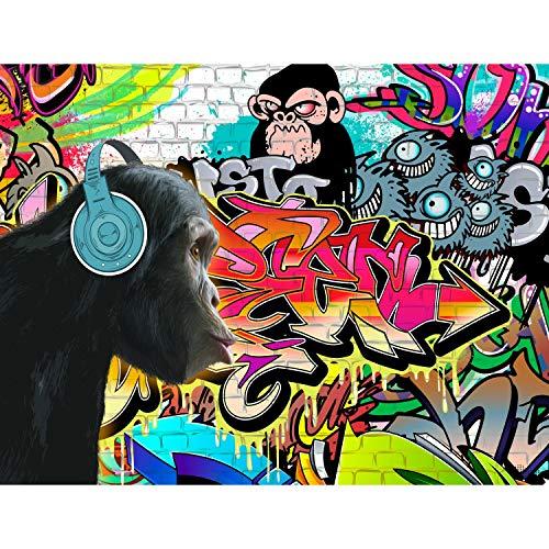Fototapete Graffiti Affe Vlies Wand Tapete Wohnzimmer Schlafzimmer Büro Flur Dekoration Wandbilder XXL Moderne Wanddeko - 100% MADE IN GERMANY - Runa Tapeten 9169010b
