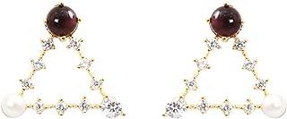uncut ruby earrings