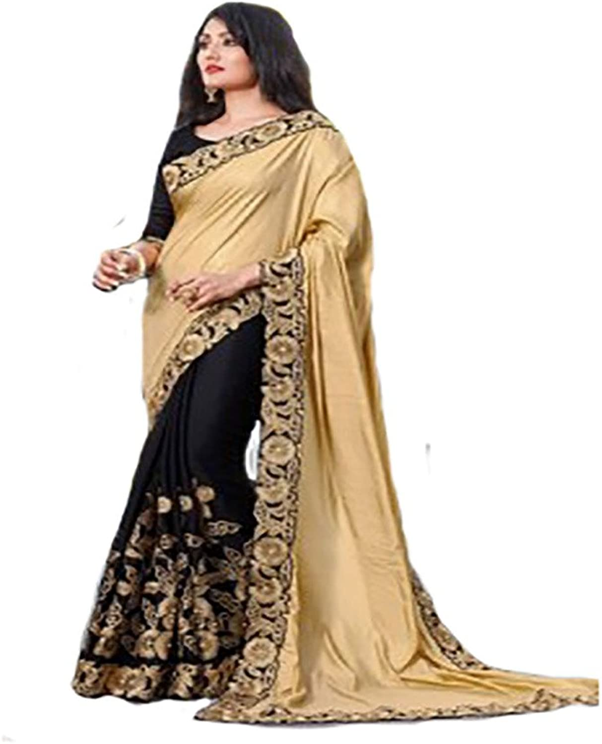 BOLLYWOOD ETHNIC SAREE SARI EMBROIDERY GOWN CEREMONY WOMEN