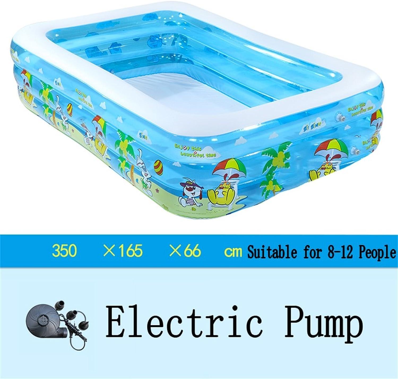 L&Y Badewanne Groe aufblasbare Badewanne Pool-Paddel-Pool Sea Ball Pool für Kinder Baby Familie mit Elektropumpe Geeignet für 8-12 Personen (350  165  66cm)