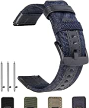 Olytop Galaxy Watch 46mm & Gear S3 Bands, 22mm Quick Release Premium Nylon with Leather Sports Replacement Wrist Band for Samsung Galaxy Watch 46mm & Gear S3 Frontier/Classic Smart Watch (Blue)