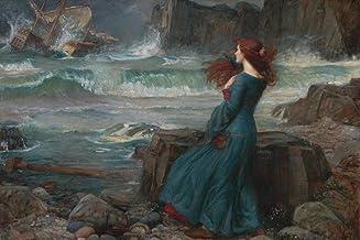 John William Waterhouse Miranda from Shakespeares The Tempest 1916 Oil On Canvas Art Cool Wall Decor Art Print Poster 24x36