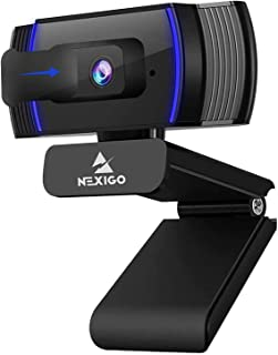 2020 1080p Webcam with Microphone and Privacy Cover, AutoFocus, Noise Reduction, HD USB Web Camera, for Zoom Meeting YouTu...
