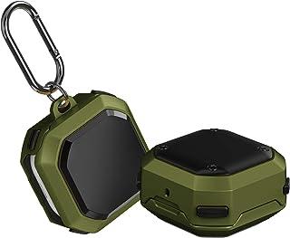 Fodral kompatibel med Samsung Galaxy Buds Live 2020 fodral Armor TPU PC skyddsfodral med karbinhake klämma stötsäkert fodr...