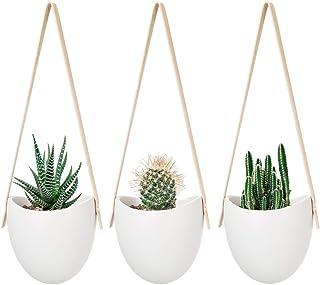 Mkouo cerámica Colgante plantador suculento Aire Planta