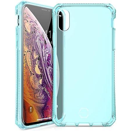 ITSKINS Coque de Protection Semi-Rigide pour iPhone X/XS Bleu Translucide