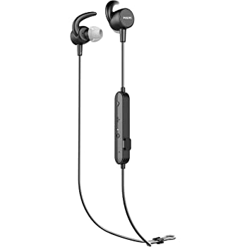Philips ActionFit SN503 Wireless Bluetooth Earphones with Heart Rate Monitoring and IPX5 (TASN503BK)