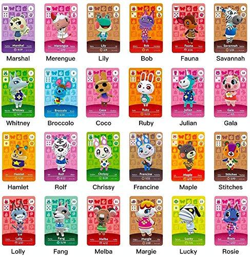 Mini carte con tag NFC ACNH da 24 pezzi Animal Crossing New Horizons Carte da Gioco Serie 1-4 per Switch