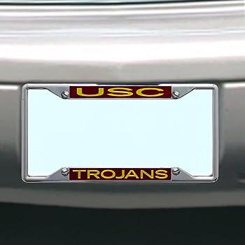 Large Trojans Usc Trojans Metal Inlaid Acrylic License Plate Frame