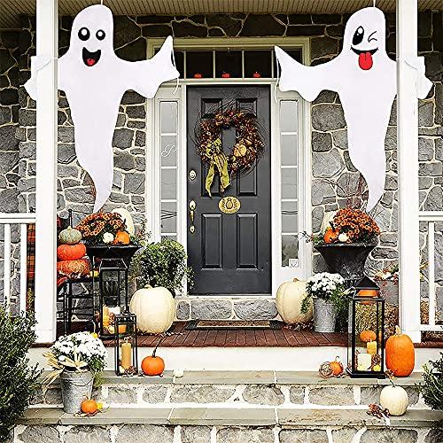 Gukasxi 2 sztuki duch Halloween wisząca dekoracja na zewnątrz wiszący duch straszne artykuły imprezowe duch drzewo owijanie na zewnątrz dekoracja podwórka duch Halloween artykuły imprezowe