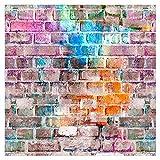 murando - Fototapete selbstklebend 10m 3D Tapete Wandtattoo dekorative Möbelfolie Dekorfolie Fotofolie Wandaufkleber Wandposter Wandsticker - Ziegel Ziegelwand Ziegelmauer f-C-0329-j-a