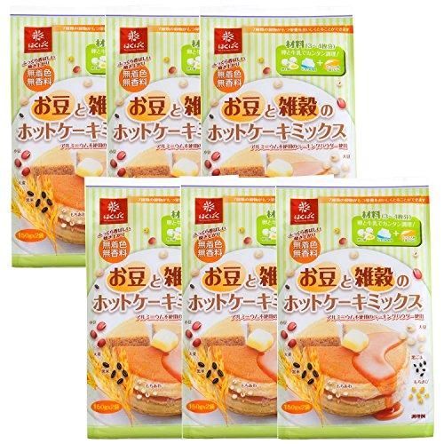 はくばく お豆と雑穀のホットケーキミックス (150g×2P)×6個