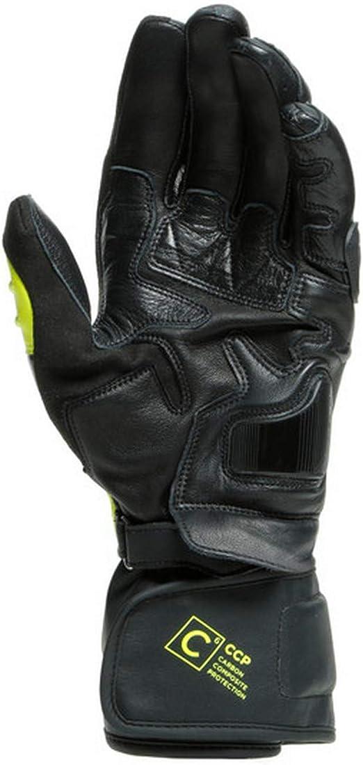 Dainese Carbon 3 Long Motorradhandschuhe Schwarz Gelb Xl Auto
