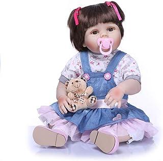 "Reborn Baby Doll, 100% Handmade Full Soft Silicone 22"" /55cm Lifelike Newborn Doll for Children Xmas Gift-RB152"