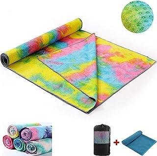 Quick Dry Non-Slip 72'' x 24.8'' Inches Yoga Mat Towel- Super Soft, Sweat Absorbent, Non-Slip Bikram Hot Yoga Towels | Per...