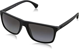 70802b702510 Emporio Armani Men s 0EA4033 Black Grey Rubber Polar Grey Gradient  Sunglasses
