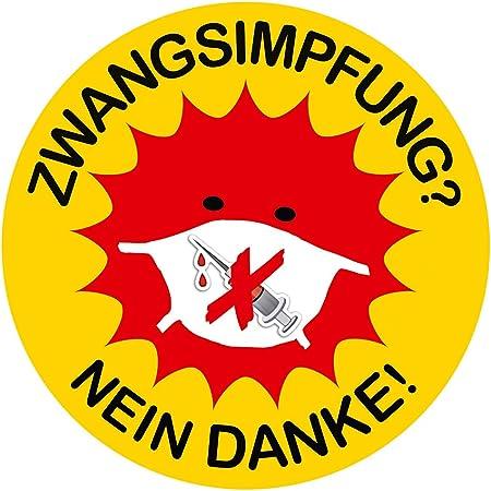Aufkleber Sticker Zwangsimpfung Nein Danke Sticker Set 10 Stück Auto