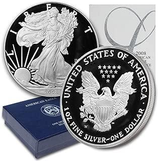 2008 W American Silver Eagle $1 Proof w/OGP & COA