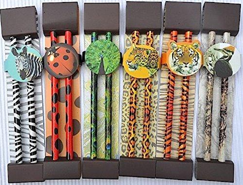 Kinder Geschenkidee -12 Luxus Bleistifte im Set - mit hochwertigem Druck - ideal für die Schule oder als Mitgebsel zur Geburtstagsparty