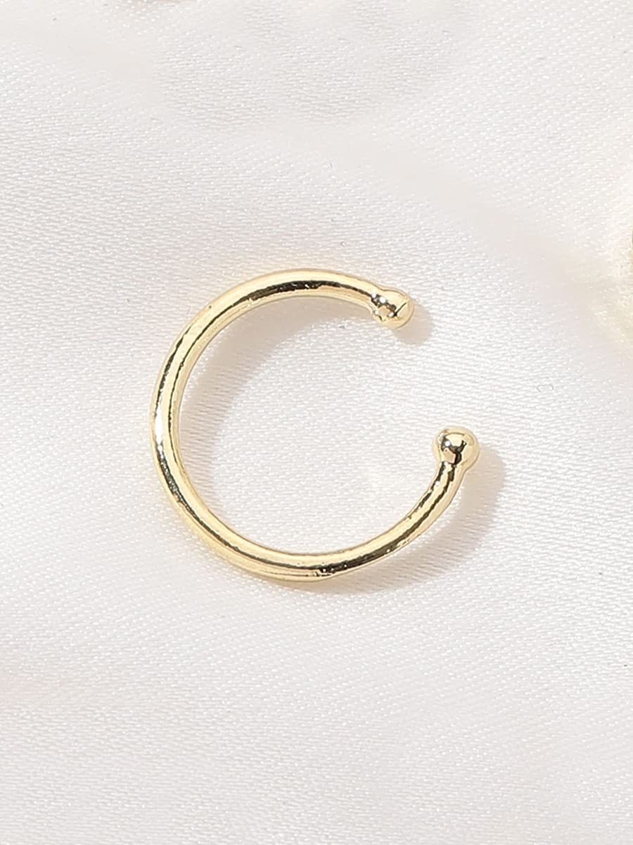ZHCHL Hoop Earrings 1pc Minimalist Ear Cuff (Color : Gold)