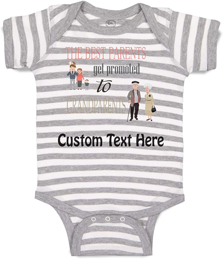 Custom Baby Bodysuit Best Parents Promoted to Grandparents Boy /& Girl Clothes