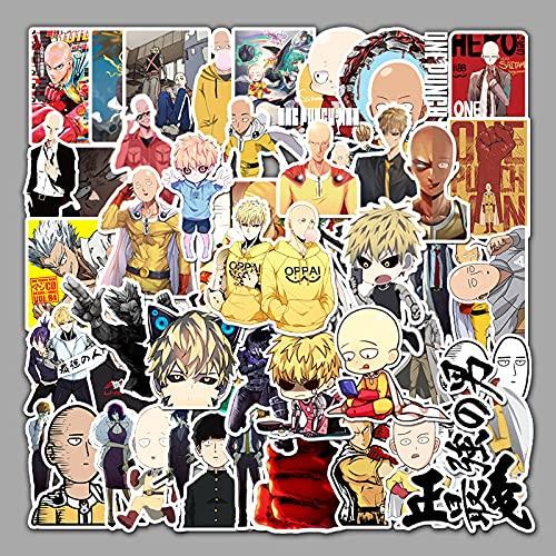 HUNSHA 57 pegatinas impermeables de graffiti de anime, maleta de equipaje, pegatinas de decoración de coche scooter