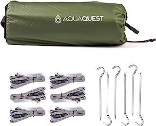 Aqua Quest (アクアクエスト) Safari 軽量 防水 タープ 3x2, 3x3, 3x4, 4x6m オリーブ/迷彩 (オリーブセット, 3 x 2 m)