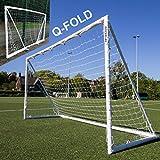 QUICKPLAY Q-Fold | But de Football Pliable et dépliable en 30 Secondes pour Le Jardin [But Simple] Le Filet de Football Toutes Saisons pour Enfants et Adultes (3.6 x 1.8M)