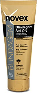Embelleze Novex Blindagem Brazilian Keratin Heat Protector Leave In (7oz) Thermal Heat Protectant Sealing Treatment for Heat Styling, Detangling & Smoothing Chemically Damaged, Dry & Dull Hair Types