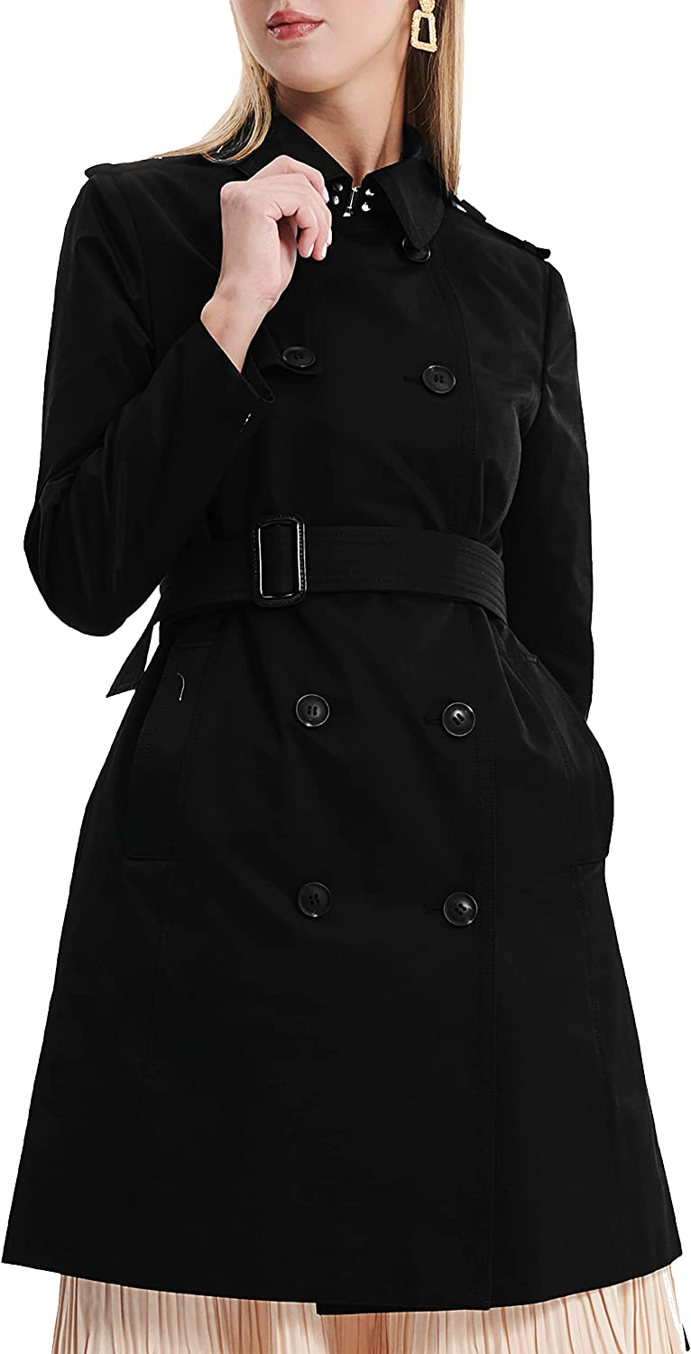 Long Super special price Long-awaited Women's Trench Coats - Double Coat D Belted Breasted