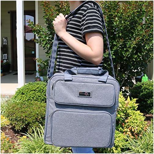 Everything Mary Scrapbook Craft Storage Organizer Case Bag, Grey Heather - for Sewing, Crochet, Arts & Crafts… |