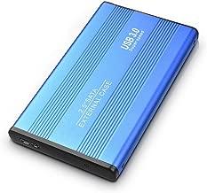 SAMSUNA External Hard Drive 2TB,2 TB External Hard Drive USB 3.0 SATA 2.5 Hard Drive for Mac,PC, MacBook,Desktop, Laptop,Chromebook - Design B (2TB, Blue)