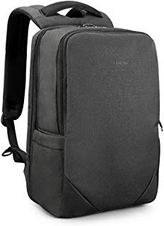 Slim Laptop Backpack Lightweight Business Commuting Bag Anti-Theft Water Resistant USB Port TSA Friendly College School Computer Bag Fits 15.6 Inch