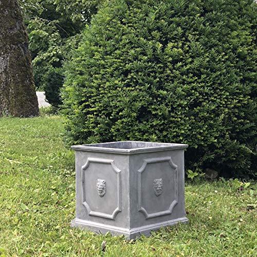 L'ORIGINALE DECO Jardinière Bac Pot à Plantes Arbre de Jardin d'Entrée Vase Jardiniere Vasque Medicis 31 cm x 31.50 cm