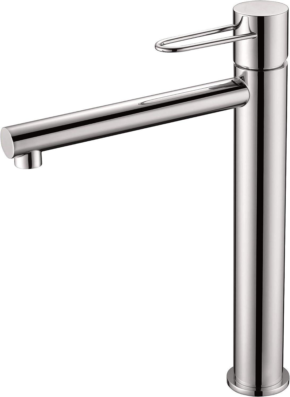 Grifo lavabo monomando caño alto Milos BDY027-3CR