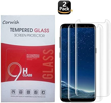 2 Pack Galaxy S8 Plus Screen Protector, Edge to Edge Case Friendly Full Coverage Clear