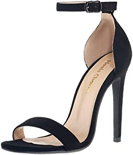 Women's Open Toe Stiletto Strappy Heeled Sandals Ankle Strap High Heel 10 cm 11 cm Dress Party Work Dance Evening Wedding Sandals