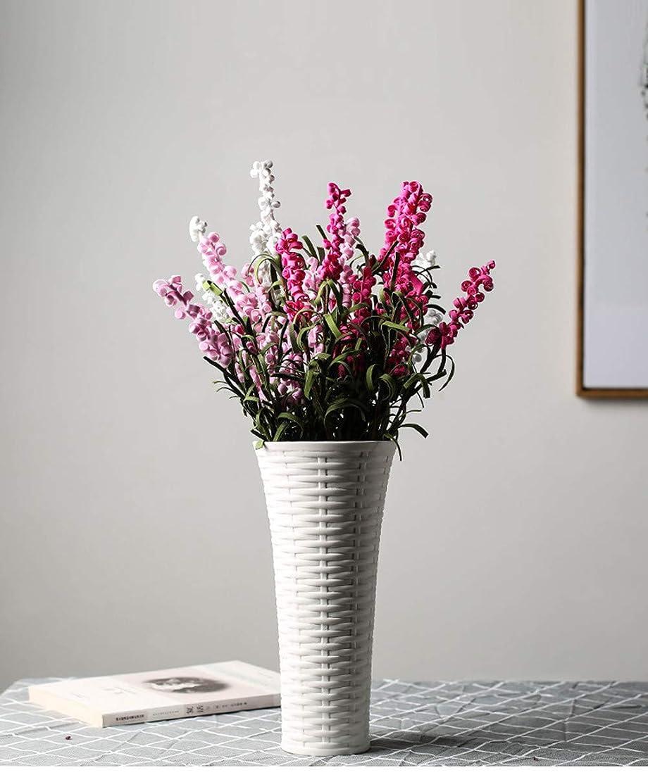 パワーセル四回無視する花器 セラミック花瓶 錐形の花瓶 陶器 北欧 生け花 装飾品 シンプルなデザイン フラワーベース インテリア飾り 花瓶-TNTC-CF001 (白い 中 5.5cm*9.3cm*18.6cm)