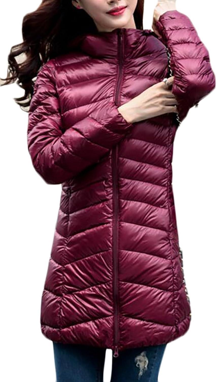 CRYYUWomen Packable Hoodie Lightweight Down Jackets Puffer Coats