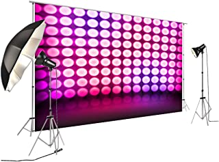Violet Dance Disco Lights Stage Background for Disco Party Decoration FiVan Glare-Free Vinyl Backdrop FD-7734