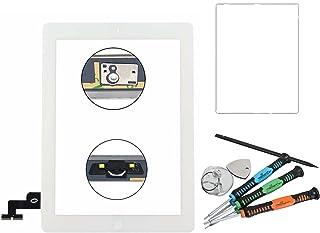 Trop Saint® Digitalizador de Pantalla Táctil para iPad 2 Blanco Repuesto Reparación con Adhesivo y Herramientas (A1395, A1396, A1397)