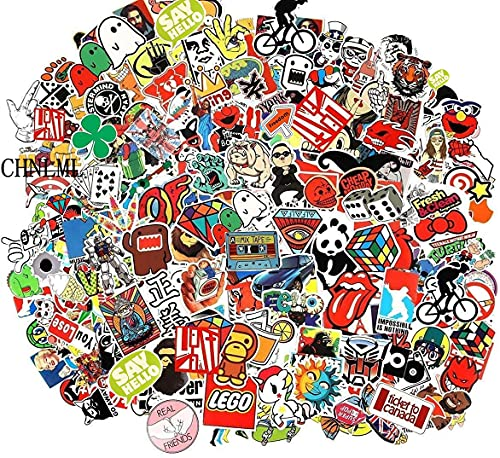 Cool Sticker 100pcs Random Music Film Vinyl Skateboard Guitar Travel...