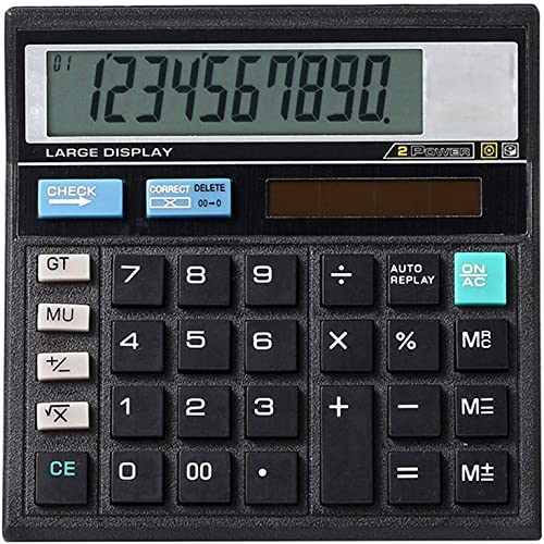 Mengshen Desktop Calculator Solar Battery Dual Power 10 Digit LCD Display with Large Sensitive Button Basic Office Products Electronic Multifunctional Calculating Machine