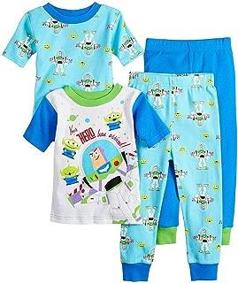 Toy Story Boy's 4-Piece Hero Buzz Lightyear, Little Green Men Pajama Set