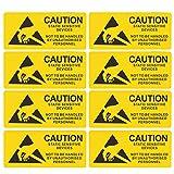 iplusmile 450 Pz Adesivi per Dispositivi Sensibili Statici Pratici Durevoli Chiari Decalcomanie Negozio Segnale di Avvertimento Wall Sticker per Scuola Edificio per Uffici (Giallo)