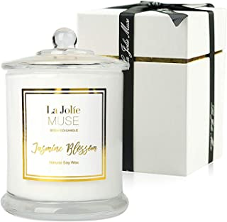 LA JOLIE MUSE Jasmine Scented Candle, Candle Gift for Women, Natural Soy Wax, 65 Hours Burn Fine Home Fragrance, Glass Jar...