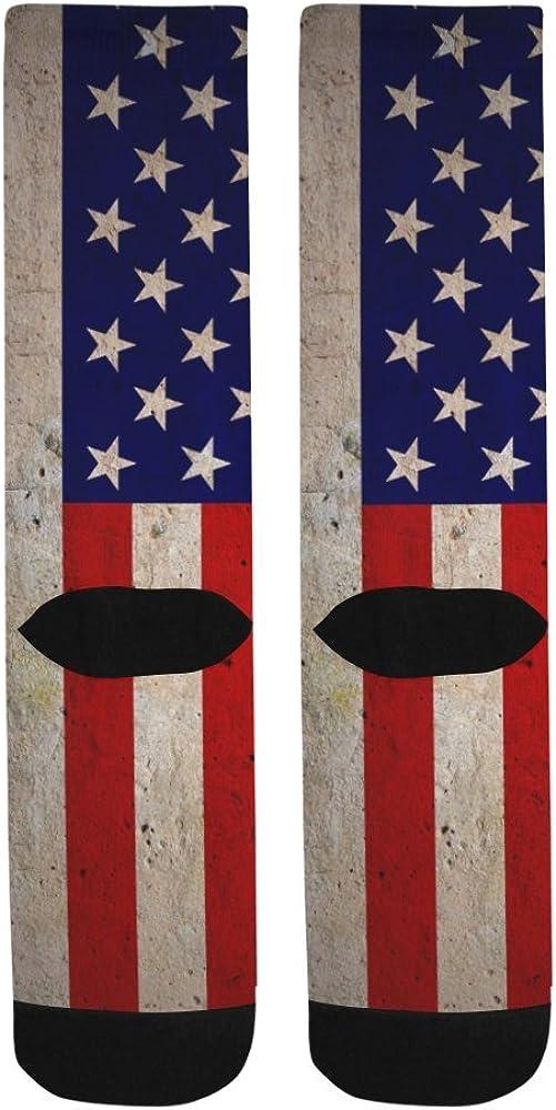 Unique Debora Custom Hosiery Knee-High Socks Leg Warmers for Unisex with American Flag
