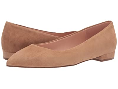 J.Crew Pointy Toe Flat in Suede Women