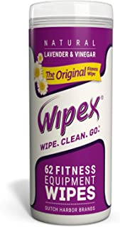 Wipex The Original Natural Fitness Equipment Wipes for Personal Use, Lavender and Vinegar