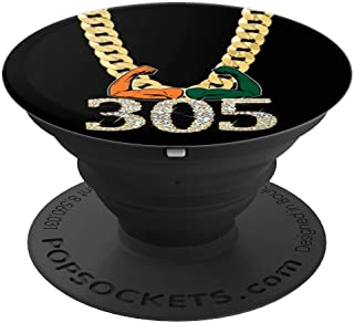 Miami Football 305 Funny Mobile Accessory Fan Cool Gift - PopSockets Grip and Stand for Phones and Tablets